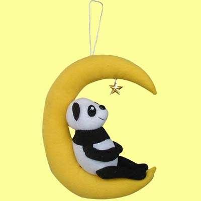 6英寸坐月亮熊猫